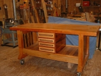 Southern Heart Pine Workbench