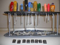 Keyboard Screwdriver Rack