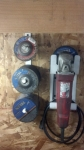 Grinder and Abrasive Disc Storage
