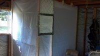 Improvised Garage Paint Booth