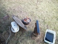 Backyard Blacksmithing Setup