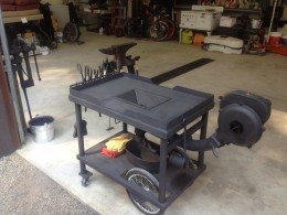 Homemade Wheeled Tabletop Forge