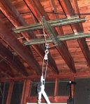 Ceiling-Anchored Engine Hoist