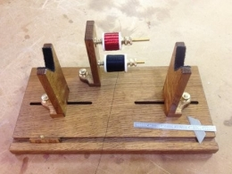 Homemade fly rod wrapping jig for Fishing rod building tools