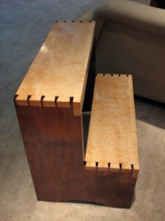 Amazing Homemade Dovetailed Stepstool Homemadetools Net Ibusinesslaw Wood Chair Design Ideas Ibusinesslaworg