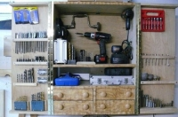 Drill and Accessories Cabinet