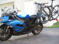 Motorcycle-Mounted Bicycle Rack