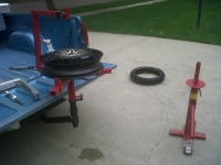 Tire Changer Hitch Mount