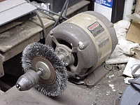 Wire Wheel and Chuck Attachment