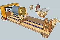 3-in-1 Woodworking Lathe-Sander-Grinder/Sharpener