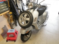 Spare Tire Mount for a Vespa