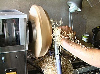 Electrically Powered Wood Lathe