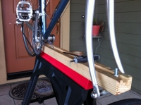 Sawhorse-Mounted Bicycle Stand