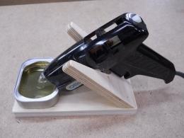 Homemade glue gun stand - Diy pistolet a colle ...