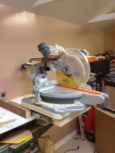 Homemade Miter Saw Rotating Pull Out Stand