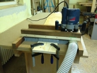 Planer Sled Dust Collection
