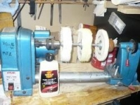 Lathe-Based Buffing Setup