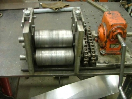 Homemade Flat Stock Ring Roller