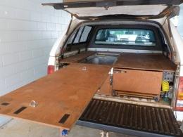 Homemade Pickup Storage Drawers And Workbench