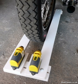 Homemade Motorcycle Laser Alignment Jig