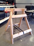 Angled Wooden Sawhorses