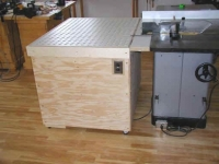 Downdraft and Outfeed Table
