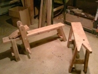 Sawbench and Shaving Horse